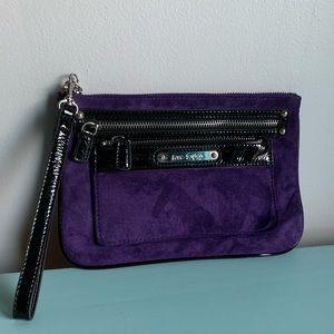 EXPRESS Purple Suede Wristlet